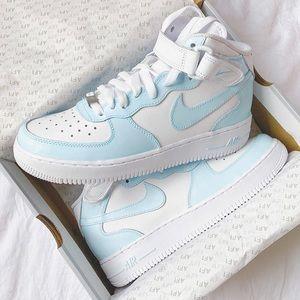 Nike custom air force 1 mid sneakers